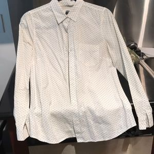 Old Navy white with black cross dress shirt xs